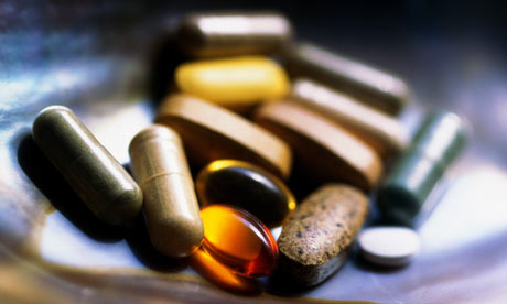 Vitamin pills and capsule health supplements