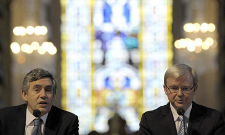 Gordon Brown and his Australian counterpart Kevin Rudd