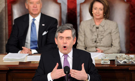 Gordon Brown addresses a Joint Meeting of Congress in Washington