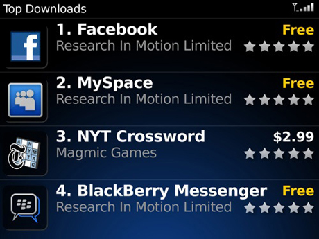 BlackBerry's new 'App World' application store
