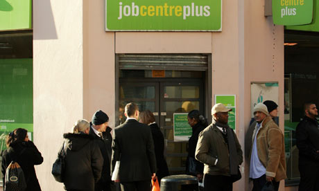 People looking for work wait at the job centre