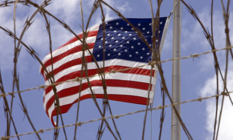 US flag in Guantanamo Bay