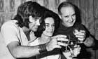 George Best with his parents Ann and Dickie Best