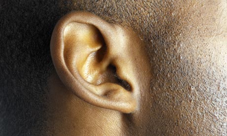A young man's ear