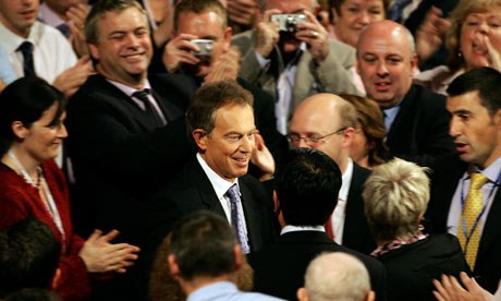 Tony Blair at the Labour party conference in 2004.