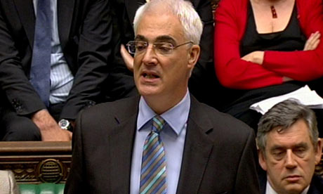 Alistair Darling delivers his budget speech