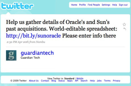 Guardian Tech twitter invite