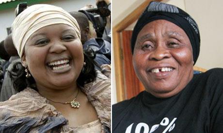 Jacob Zuma's wives Nompumelelo Ntuli and Sizakele Khumalo