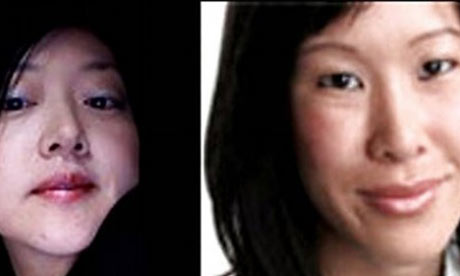 Journalists Euna Lee and Laura Ling are seen in undated handouts in this combination photo