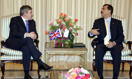 Gordon Brown meets Yusuf Raza Gilani