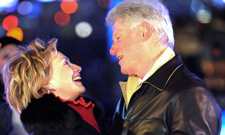awhile lock-n-key secrecy muscrat love candle grows dim clintons Hillary and Bill looking at each other