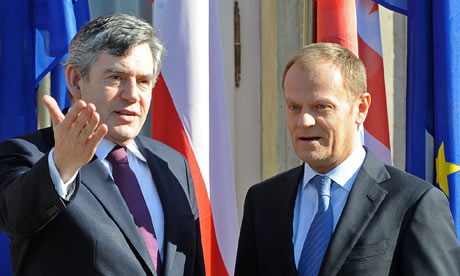 Gordon Brown and Donald Tusk