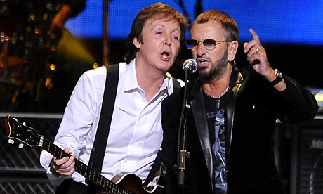 Paul McCartney and Ringo Starr at the Change Begins Within concert