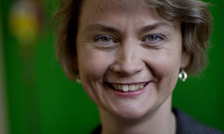 Treasury minister Yvette Cooper at the treasury