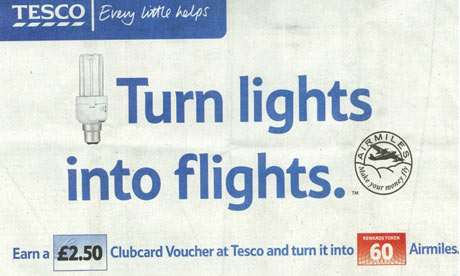 Tesco's 'flights for lights' promotion – every little hurts ...