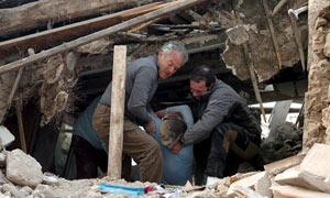 Rescue work in Onna