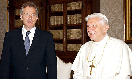 TONY BLAIR MEETS POPE BENEDICT XVI