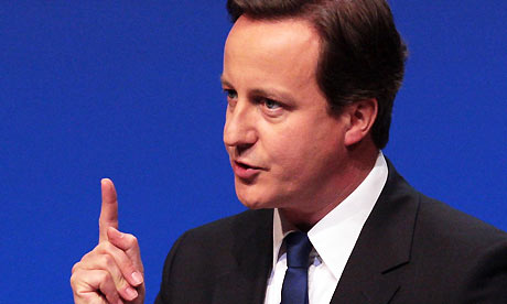 The Conservative leader, David Cameron, speaks at the annual Scottish Conservative party conference