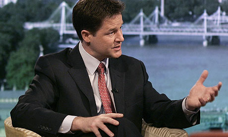 Nick Clegg on BBC1's Andrew Marr Show.