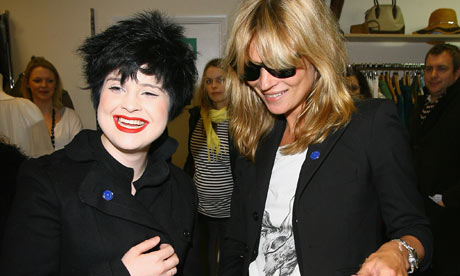 Kelly Osbourne and model Kate Moss