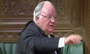 Michael Martin, the Speaker of the House of Commons, on 18 May 2009.