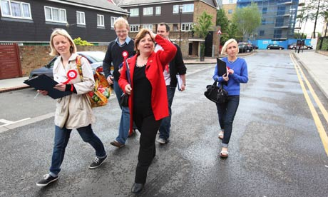 Emily Thornberry canvassing in Islington