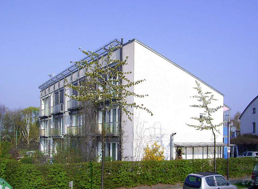 Green technologies: One of the original Passive Houses at Darmstadt, Germany