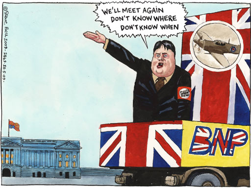 28.05.09: Steve Bell on Nick Griffin's decision to not attend Buckingham Palace garden party