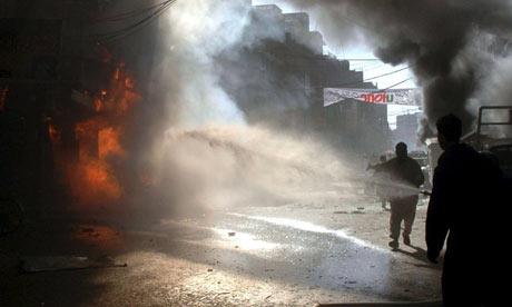 bomb blasts rock Peshawar