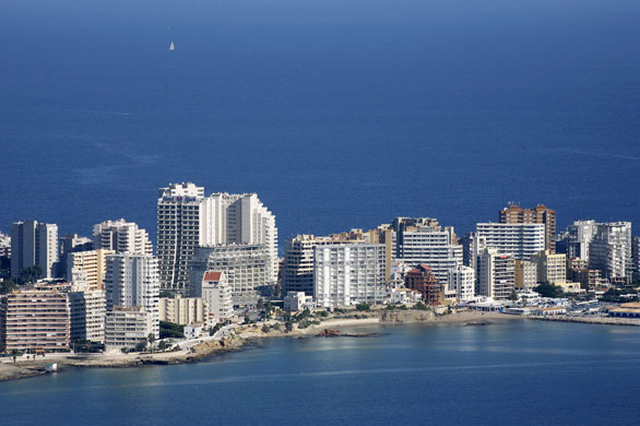 Spanish coastlines: 2006: Construction work close to the Mediteranean sea in Calpe