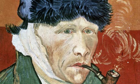 Vince just lost his ear. Remarkable detail: he has a beard on most of his self portraits.