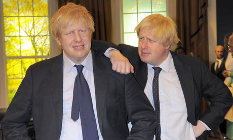 Boris Johnson (right) and his Madame Tussauds waxwork. Or is it the other way around?