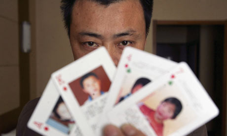 Missing children playing cards