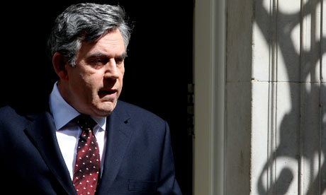 Gordon Brown Leaves For Prime Minister's Questions