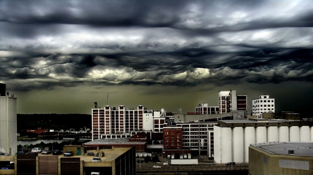 Asperatus cloud: Over Cedar Rapids, Iowa, US.