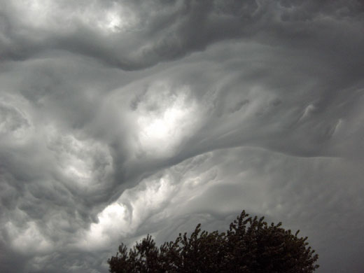 Asperatus cloud: Over East Central Illinois. US