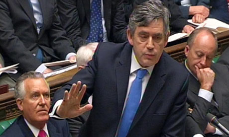 Gordon Brown at the dispatch box