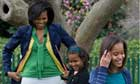 First Lady Michelle Obama and daughters