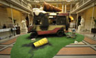 Banksy exhibition Bristol City museum wrecked and grafittied ice cream van