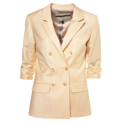 Peach Blazer :  jacket outerwear tailored style