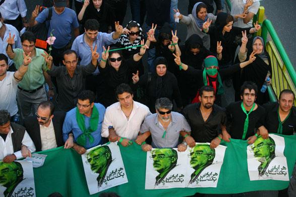 17 June Pro Mousavi Demonstration