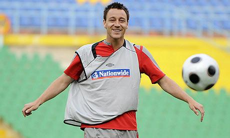 John Terry at England training in Kazakhstan