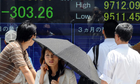 Nikkei index in Tokyo