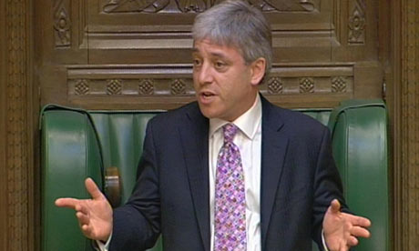 John Bercow addresses the House of Commons after becoming Speaker of the House of Commons