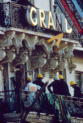 Margaret Thatcher: 1984: Exterior of the Grand Hotel