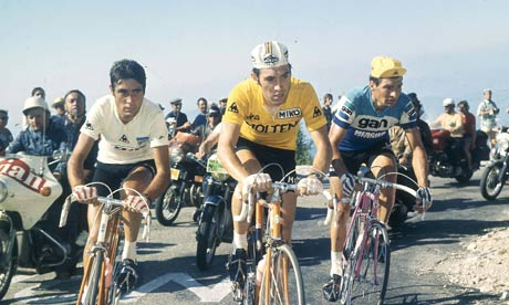 The tour de France scales mont verdoux 13 July 1972