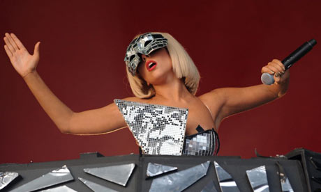Lady Gaga on the Other Stage at the Glastonbury Festival Pop precision .