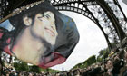 Michael Jackson fans gather near the Eiffel Tower