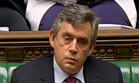 Gordon Brown in the Commons after making a statement on new government policies on 29 June 2009.