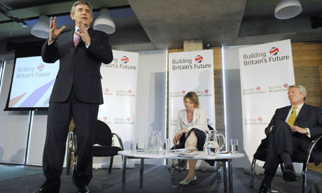 Gordon Brown, Yvette Cooper and Alan Johnson